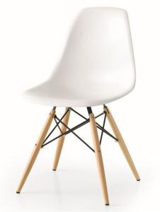 sedia stile eames bianco